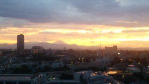 夕日のあと