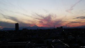 ピンクの富士山