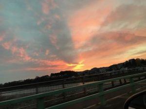 小千谷の夕日